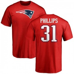 Men's Adrian Phillips New England Patriots Name & Number Logo T-Shirt - Red
