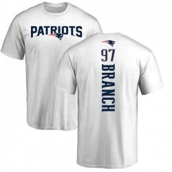 Men's Alan Branch New England Patriots Backer T-Shirt - White