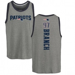 Men's Alan Branch New England Patriots Backer Tri-Blend Tank Top - Ash