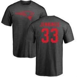 Men's Anfernee Jennings New England Patriots One Color T-Shirt - Ash