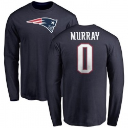 Men's Bill Murray New England Patriots Name & Number Logo Long Sleeve T-Shirt - Navy