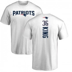 Men's Brandon King New England Patriots Backer T-Shirt - White