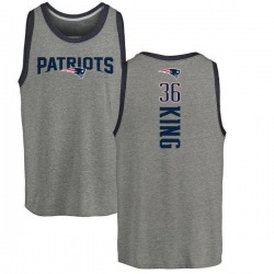 Men's Brandon King New England Patriots Backer Tri-Blend Tank Top - Ash
