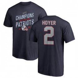 Men's Brian Hoyer New England Patriots 2018 AFC Champions Navy T-Shirt