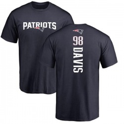 Men's Carl Davis New England Patriots Backer T-Shirt - Navy