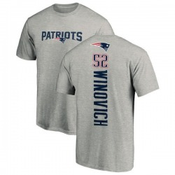 Men's Chase Winovich New England Patriots Backer T-Shirt - Ash