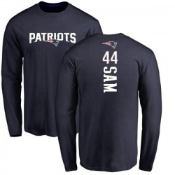 Men's Christian Sam New England Patriots Backer Long Sleeve T-Shirt - Navy