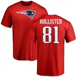 Men's Cody Hollister New England Patriots Name & Number Logo T-Shirt - Red