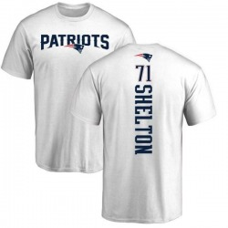 Men's Danny Shelton New England Patriots Backer T-Shirt - White