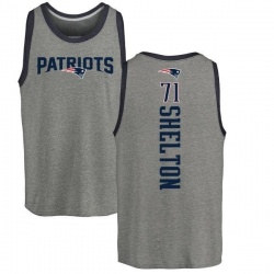 Men's Danny Shelton New England Patriots Backer Tri-Blend Tank Top - Ash