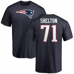 Men's Danny Shelton New England Patriots Name & Number Logo T-Shirt - Navy