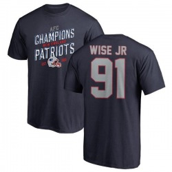 Men's Deatrich Wise Jr. New England Patriots 2018 AFC Champions Navy T-Shirt