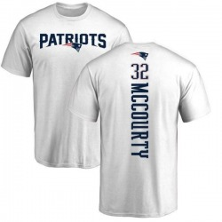 Men's Devin McCourty New England Patriots Backer T-Shirt - White