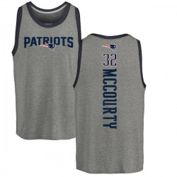 Men's Devin McCourty New England Patriots Backer Tri-Blend Tank Top - Ash
