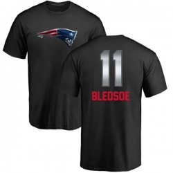 Men's Drew Bledsoe New England Patriots Midnight Mascot T-Shirt - Black