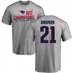 Men's Duron Harmon New England Patriots 2017 AFC Champions T-Shirt - Heathered Gray