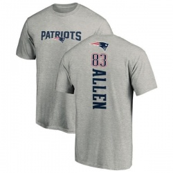Men's Dwayne Allen New England Patriots Backer T-Shirt - Ash
