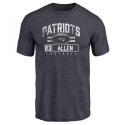 Men's Dwayne Allen New England Patriots Flanker Tri-Blend T-Shirt - Navy