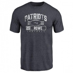 Men's Eric Rowe New England Patriots Flanker Tri-Blend T-Shirt - Navy
