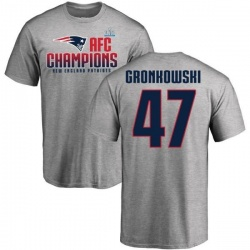 Men's Glenn Gronkowski New England Patriots 2017 AFC Champions T-Shirt - Heathered Gray