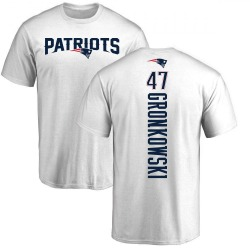 Men's Glenn Gronkowski New England Patriots Backer T-Shirt - White