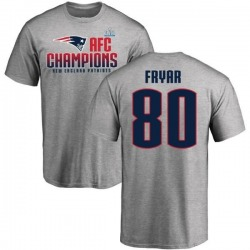 Men's Irving Fryar New England Patriots 2017 AFC Champions T-Shirt - Heathered Gray