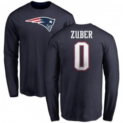 Men's Isaiah Zuber New England Patriots Name & Number Logo Long Sleeve T-Shirt - Navy