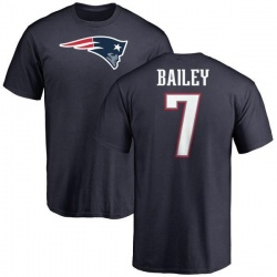 Men's Jake Bailey New England Patriots Name & Number Logo T-Shirt - Navy
