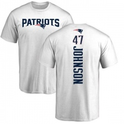 Men's Jakob Johnson New England Patriots Backer T-Shirt - White