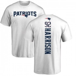 Men's James Harrison New England Patriots Backer T-Shirt - White