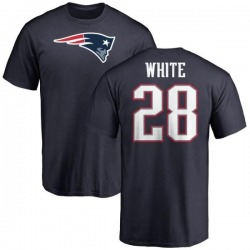 Men's James White New England Patriots Name & Number Logo T-Shirt - Navy