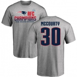 Men's Jason McCourty New England Patriots 2017 AFC Champions T-Shirt - Heathered Gray