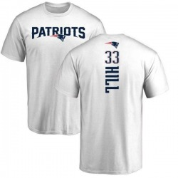 Men's Jeremy Hill New England Patriots Backer T-Shirt - White