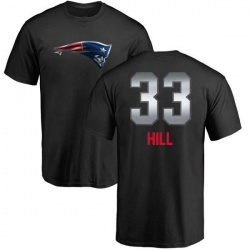 Men's Jeremy Hill New England Patriots Midnight Mascot T-Shirt - Black