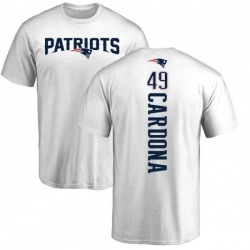 Men's Joe Cardona New England Patriots Backer T-Shirt - White