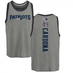 Men's Joe Cardona New England Patriots Backer Tri-Blend Tank Top - Ash