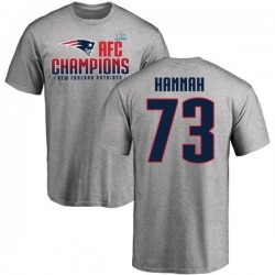 Men's John Hannah New England Patriots 2017 AFC Champions T-Shirt - Heathered Gray