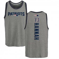Men's John Hannah New England Patriots Backer Tri-Blend Tank Top - Ash