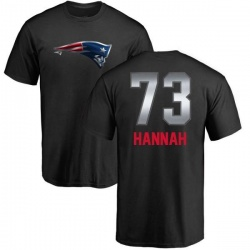 Men's John Hannah New England Patriots Midnight Mascot T-Shirt - Black