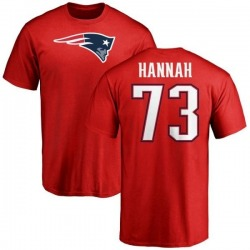 Men's John Hannah New England Patriots Name & Number Logo T-Shirt - Red