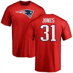 Men's Jonathan Jones New England Patriots Name & Number Logo T-Shirt - Red