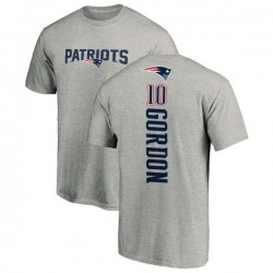 Men's Josh Gordon New England Patriots Backer T-Shirt - Ash