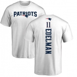 Men's Julian Edelman New England Patriots Backer T-Shirt - White