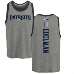 Men's Julian Edelman New England Patriots Backer Tri-Blend Tank Top - Ash