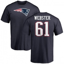 Men's Ken Webster New England Patriots Name & Number Logo T-Shirt - Navy