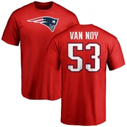 Men's Kyle Van Noy New England Patriots Name & Number Logo T-Shirt - Red