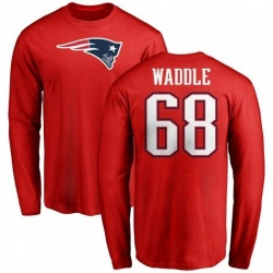 Men's LaAdrian Waddle New England Patriots Name & Number Logo Long Sleeve T-Shirt - Red