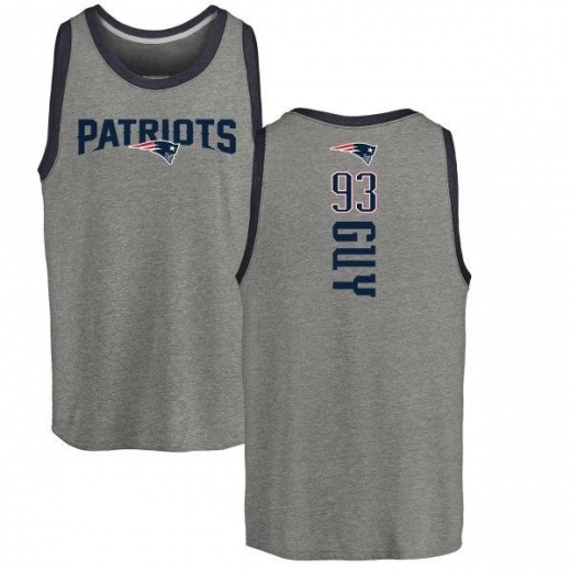 Men's Lawrence Guy New England Patriots Backer Tri-Blend Tank Top - Ash