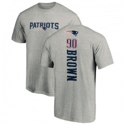 Men's Malcom Brown New England Patriots Backer T-Shirt - Ash