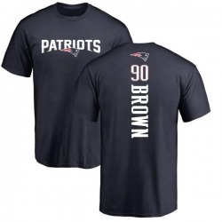 Men's Malcom Brown New England Patriots Backer T-Shirt - Navy